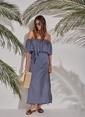Morhipo Beach Puantiyeli Elbise Lacivert